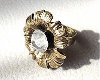 Prstene - bronzový kvet - 2466308