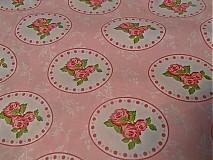 Textil - ružová romantika - 2481239