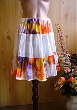 "Sukne - batikovaná ""fresh"" mini -50% - 2481690"
