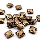 - Kovová korálka so srdiečkom 11x11 mm bal. 5 ks. - 2485160