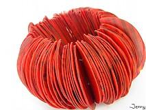 Náramky - Červeno-čierna hrkálka/náramok - 2486203
