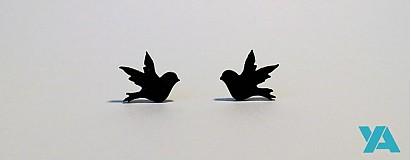 Náušnice - Vtáčiky - 2491067