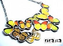 Náhrdelníky - Zbierka žltých motýľov - 2492851