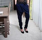 - Elegantné prekladané nohavice s pudlom - rôzne farby - 2496920