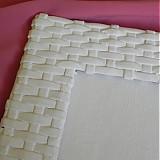 Rámiky - Pletený fotorámik - papierové pletenie - 2499253