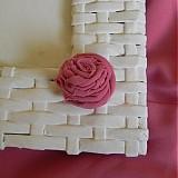 Rámiky - Pletený fotorámik - papierové pletenie - 2499255