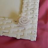 Rámiky - Pletený fotorámik - papierové pletenie - 2499258
