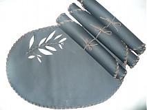 Úžitkový textil - jedálenské kožené prestieranie 4 ks - 2509397