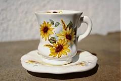 Nádoby - Šálka s podšálkou Espresso - slnečnicová - 2517610