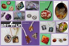 Kurzy - šperky zalievané živicou - 2517635