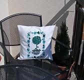 Úžitkový textil - vyšívaný vankúš letný - 2520832