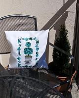 Úžitkový textil - vyšívaný vankúš letný - 2520842