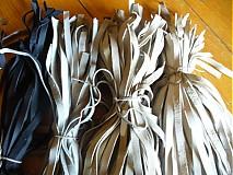 Polotovary - kožená šnurka 1 cm - cierna - 2528111