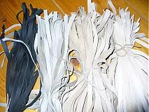 Polotovary - kožená šnurka 1 cm - cierna - 2528112