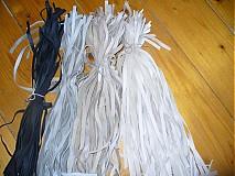 Polotovary - kožená šnurka 1 cm - cierna - 2528113