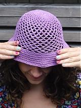 Čiapky - klobuuk fialový...hneď - 2534431
