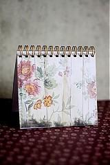 Papiernictvo - Kvetinový zápisníček VÝPREDAJ! - 2541152