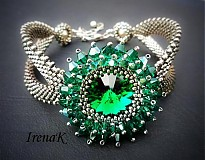 Náramky - Slza Emerald - 2544966