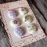 - Sada gombíkov 6 ks vintage vo fialovej 19 mm - 2546461
