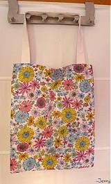Veľké tašky - Jar je tu - kvetovaná taška - 2547138