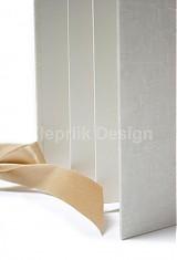 Darčeky pre svadobčanov - Minifotokniha-Leporelo Cream na 10ks foto 10x15 cm - 2552502