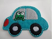 Nažehlovačka / nášivka žabka v autíčku