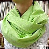 - jarný šálik zelenkavý SKLADOM - 2562190