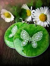 Náušnice - Motýlí veracruz green - 2573004