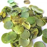 - Perleť kruh 15mm / Light Green - 2576294