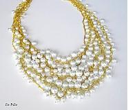 Náhrdelníky - Biele perličky - 2576301