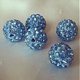Korálky - shamballa korálky CZ krystal 10mm, svetlomodré, 0,25€/ks - 2578517