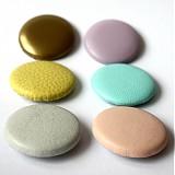 Materiál ručne robený - Buttony potiahnuté kožou 38 mm - 2580050