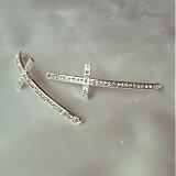Komponenty - kríž medzikus strieborný, 0.75€/ks - 2581629