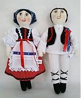 Bábiky - bábiky MARA a JURO/pár /na želanie,maľovaná tvár ,farebnosť na želanie - 2588833