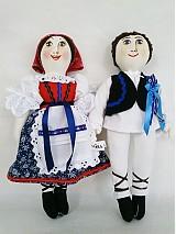 Bábiky - bábiky MARA a JURO/pár /na želanie,maľovaná tvár ,farebnosť na želanie - 2588837