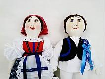 Bábiky - bábiky MARA a JURO/pár /na želanie,maľovaná tvár ,farebnosť na želanie - 2588842