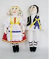 Bábiky - bábiky MARA a JURO/pár /na želanie,maľovaná tvár ,farebnosť na želanie - 2588843