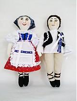 Bábiky - bábiky MARA a JURO/pár /na želanie,maľovaná tvár ,farebnosť na želanie - 2588854