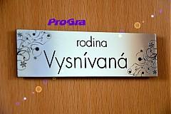 Dizajn - menovka na dvere alebo schránku