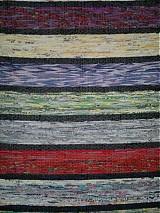 Úžitkový textil - Koberec pásikavý farebný 160x74cm - 2596749