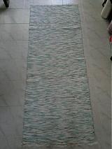 Úžitkový textil - Koberec pastelovo zeleno-tyrkysový 170x74cm - 2597146
