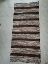 Úžitkový textil - Koberec hnedý pásikavý 160x74cm - 2597201