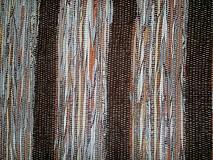Úžitkový textil - Koberec hnedý pásikavý 160x74cm - 2597208
