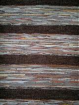 Úžitkový textil - Koberec hnedý pásikavý 160x74cm - 2597212