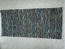 Úžitkový textil - Koberec tmavo zeleno-modrý 160x74cm - 2597292