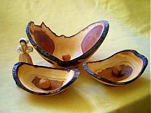 Nádoby - Trio starobylých misiek z jablone/ objednávka - 260151