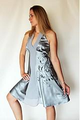 Šaty - AKCIA !!! vel. S / Strieborné šatičky - 2609163