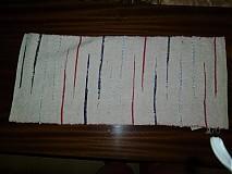 Úžitkový textil - ružové prestieranie s nepravidelnými pásikmi - 2615421