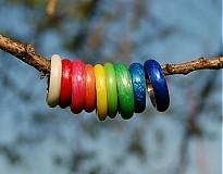 Prstene - Farebné perleťové prstene - 2622189