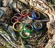 Prstene - Farebné perleťové prstene - 2622191